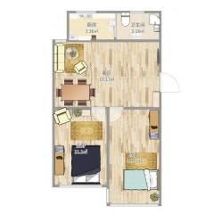 福盛家园南区2室2厅1卫85m²简单装修带车库满二可贷款急售