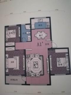 德润绿城金桂园3室2厅2卫125m²精装修未住100万