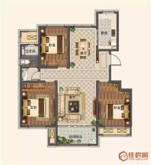 (洛城街道)德润绿城紫桂园3室2厅2卫140m²毛坯房