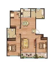 (圣城街道)卡诺岛3室2厅2卫142m²毛坯房