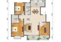 (洛城街道)学府东郡3室2厅2卫135m²精装修
