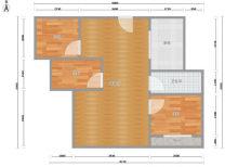 (洛城街道)中南世纪星城3室1厅1卫110m²精装修