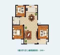 (圣城街道)兆祥小区3室1厅1卫123m²精装修送车库,学