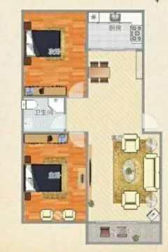 (洛城街道)人才公寓2室1厅1卫72m²精装修