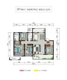 (洛城街道)清河·熙华园4室2厅2卫151m²毛坯房