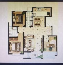 凡尔赛花园140平大三室带车位储藏室更名贷款112万