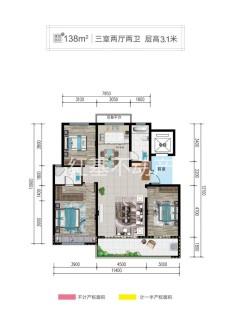 (圣城街道)枫华雅园3室2厅2卫135m²