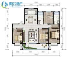 (顺合心选)枫华丽园4室2厅2卫156m²毛坯房