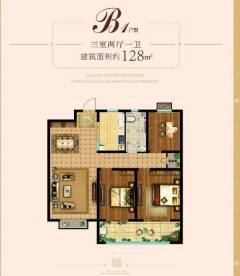 机会不容错过!!东城中心,未来城性价比高的三室,133平南北通透三室,采光视野好,带车位储藏室